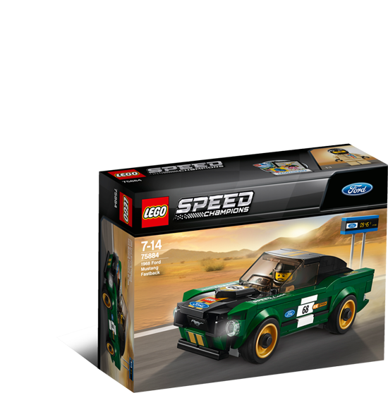 лего speed champions 75884 1968 Ford Mustang Fastback